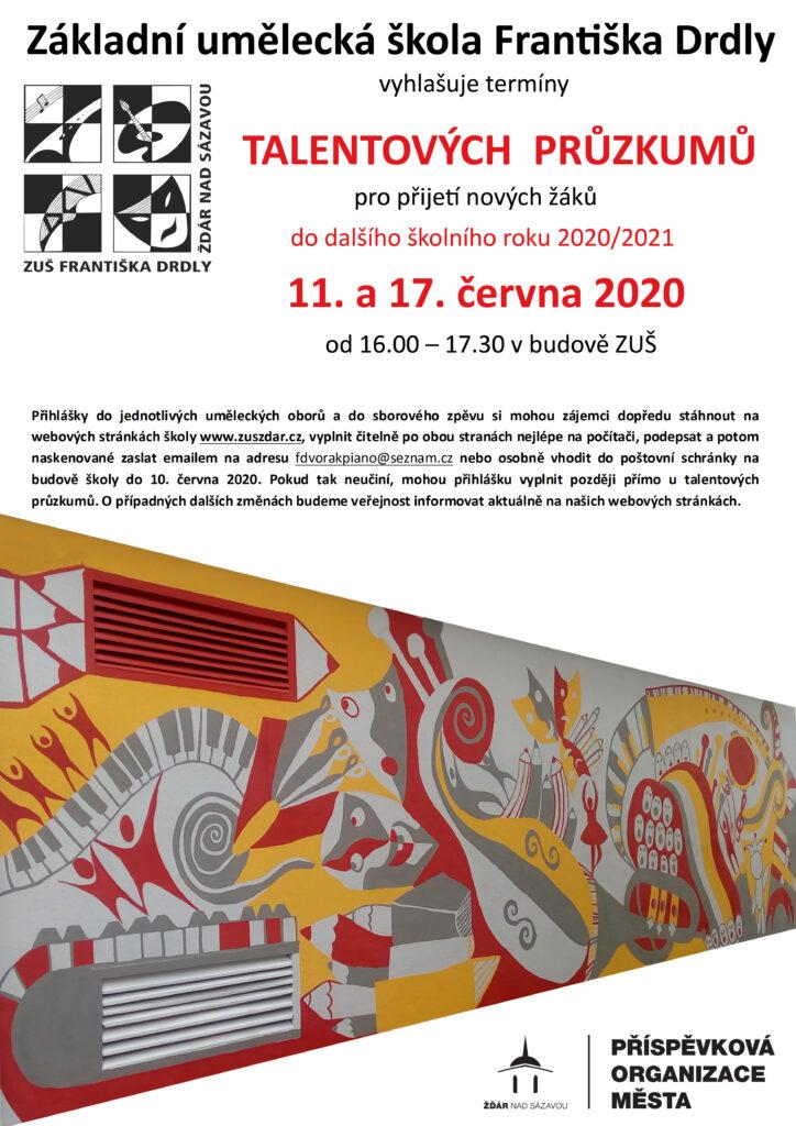 Plakát talentovky 2020